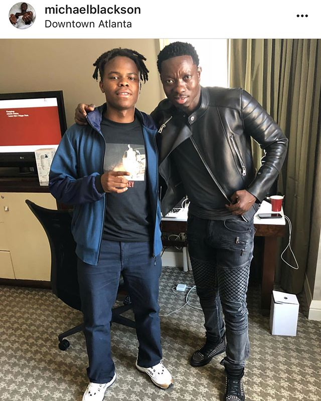 [Artist Name] Instagram - I'm officially done with my album and I'm no longer showing signs or symptoms of being a beech neega. All thanks to @michaelblackson